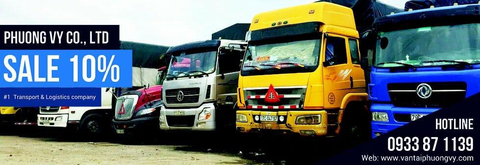 Các loại xe tải chở hàng của vận tải Phương Vy
