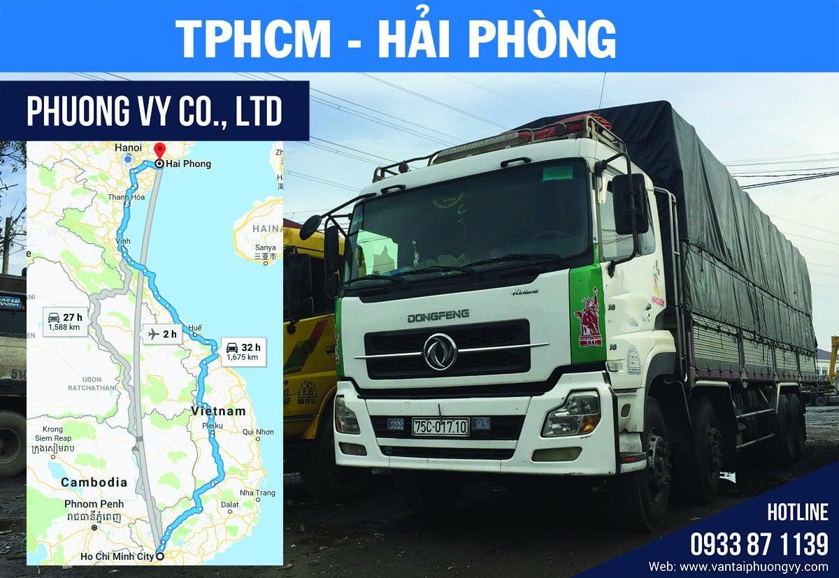 gửi vận chuyển hàng hóa đi hải phòng từ tphcm