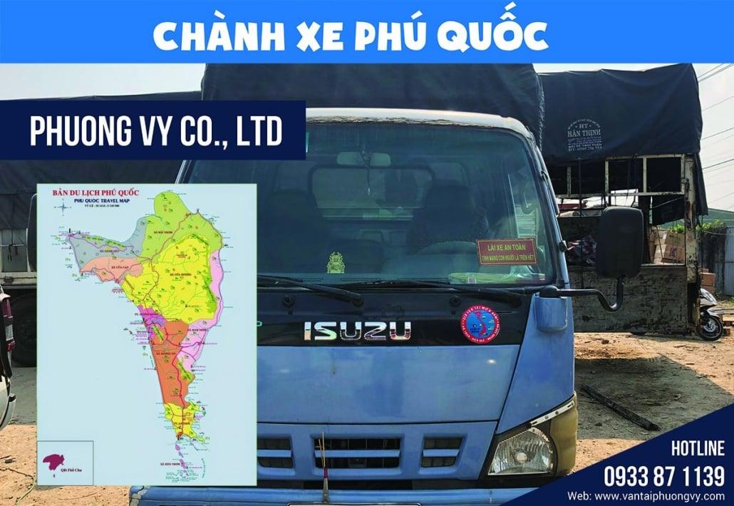 Chành xe gửi hàng đi Phú Quốc