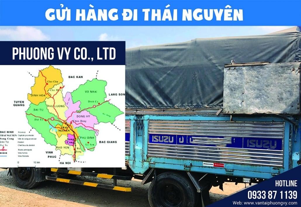 Chành xe gửi hàng đi Thái Nguyên