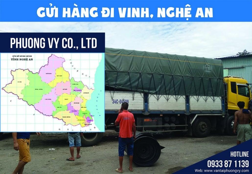 Chành xe gửi hàng đi Vinh Nghệ An
