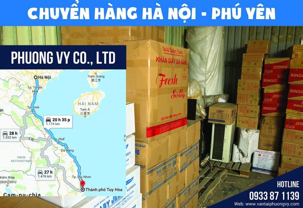 Gửi hàng từ Hà Nội đi Tuy Hòa Phú Yên